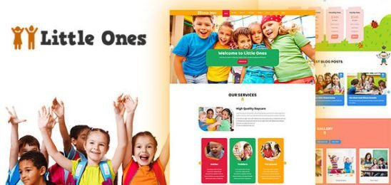 Little Ones — One Page Children/Daycare WordPress Theme