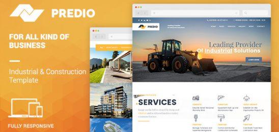 Predio   Industrial and Construction WordPress Theme
