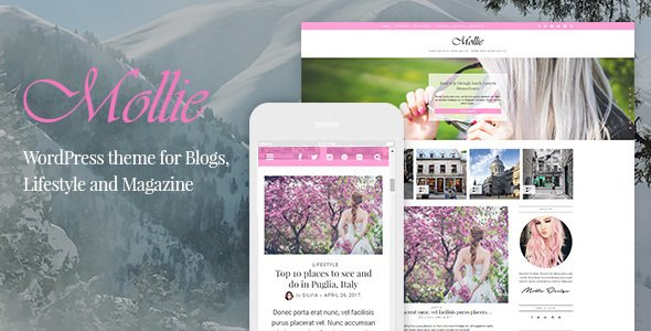Mollie — Beautiful and Responsive WordPress Blog Theme