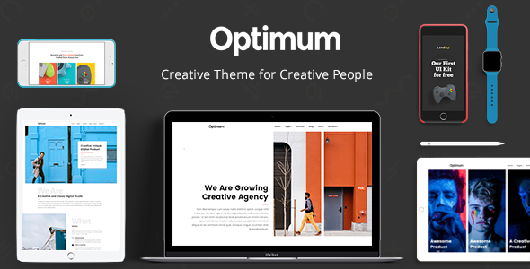 Optimum — Creative Theme for Creative People