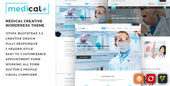 Medical Plus — Health Care, Clinic WordPress Theme