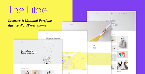 The Litae — Creative & Minimal Portfolio WordPress Theme